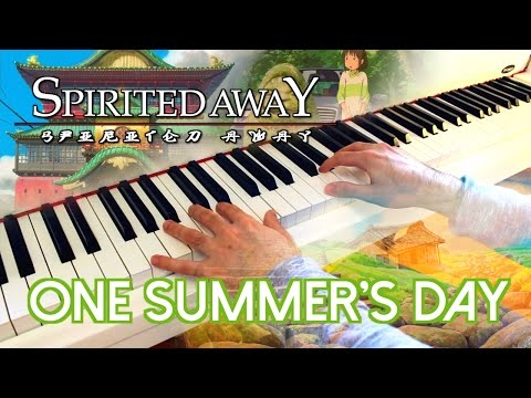 🎵 One Summer's Day (Spirited Away 千と千尋の神隠し) ~ Piano cover played by Moisés Nieto