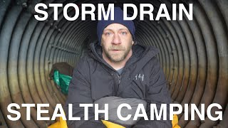 Stealth Camping In St๐rm Drain