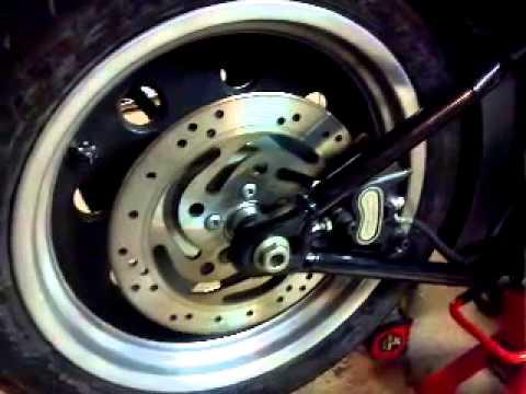 2008 Softail Night Train Pirelli Rear Tire Swap Alignment & Belt Tension