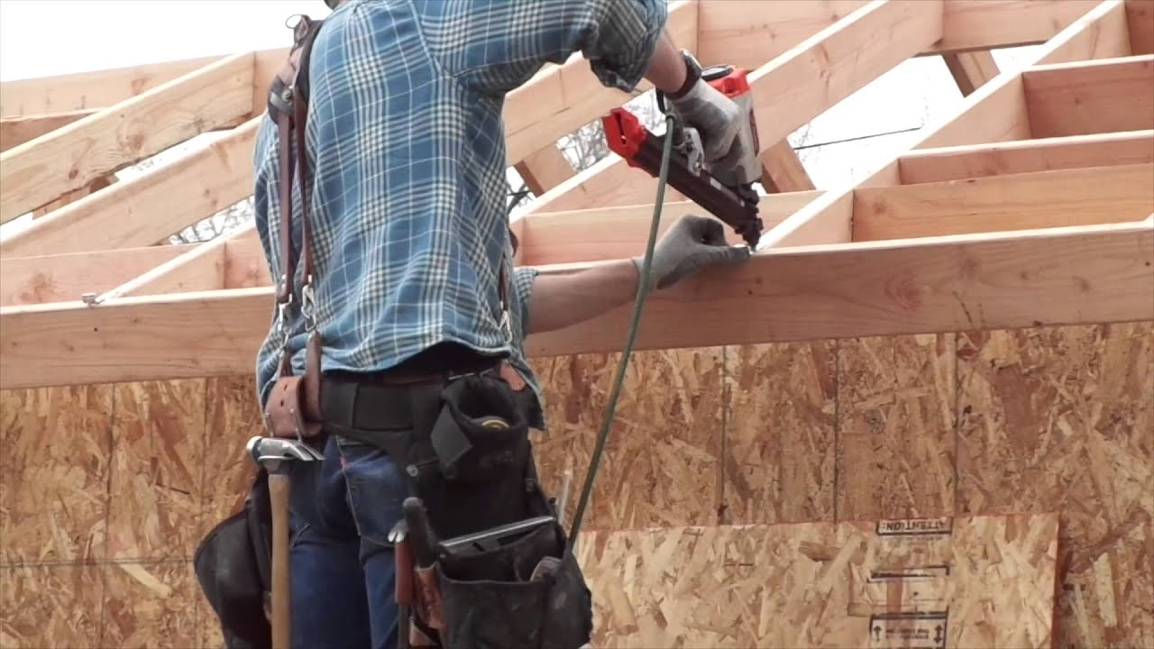 How To Install Osb Roof Sheathing Or Decking Youtube