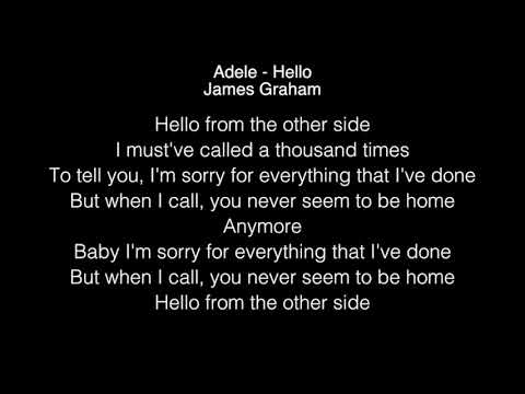 James Graham - Hello Lyrics (Adele) The Four