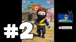 Playing Clumsy Ninja (Part 2) (iPad / iOS) (KID GAMING)