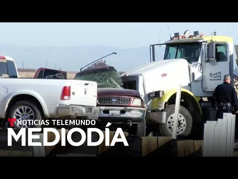 Mueren al menos 15 personas en un accidente vehicular en Imperial, California | Noticias Telemundo
