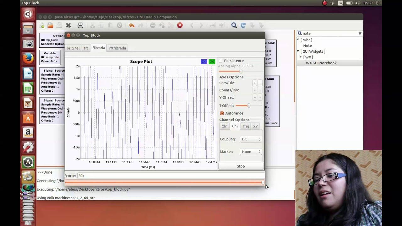 FILTROS GNU RADIO - TUTORIAL by Fundamentos Comunicaciones EPN