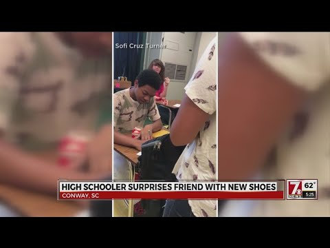 SC high school student surprises friend with new shoes