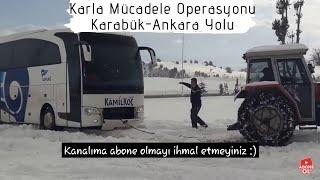 Karabük Ankara Yolu Kar Kış Kıyamet, Sürücülerin Karla İmtihanı