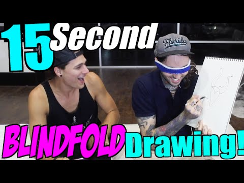 BLINDFOLD Drawing Challenge! (ft.Bradlee)