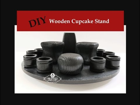 How to Make a Wooden Cupcake Stand