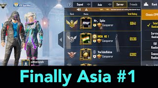 Finally Reached ASIA #1 | Conqueror Tier | PUBG Mobile | Mr Spike