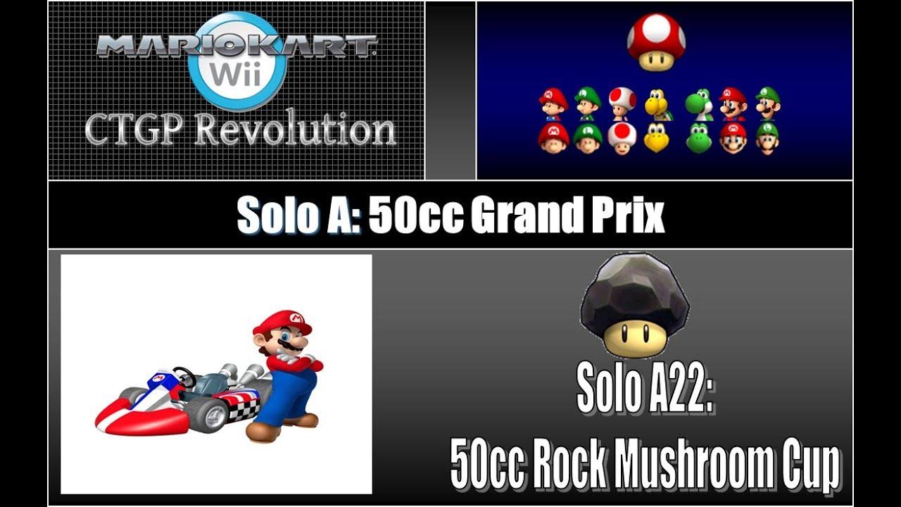 Episode 204 Mario Kart Wii Solo A22 50cc Rock Mushroom Cup Youtube