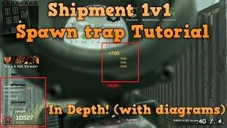 1V1 Shipment IN DEPTH SPAWN TRAP TUTORIAL! COD4 Remastered mwr