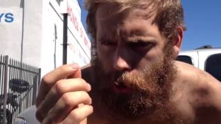 Homeless Man does Breaking Bad impressions for food (Homelessberg)