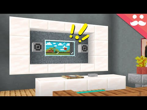 I made a Working TV in Minecraft