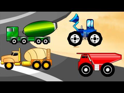 Мультфильмы про транспорт b машинки для детей - Пазлs экскаваторы/ Новый мультик пазл для малышей.