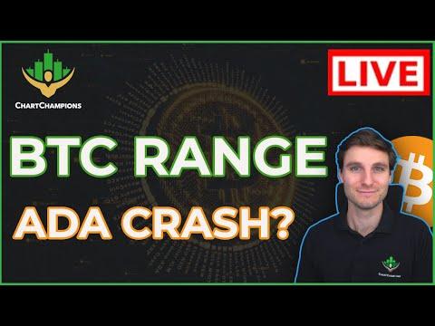 ????ADA Starts Bear Market? BTC Range To Trade (My CC Short Trade). Bitcoin Technical Analysis.