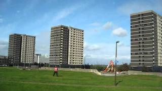 Sighthill tower blocks demolition September 2011