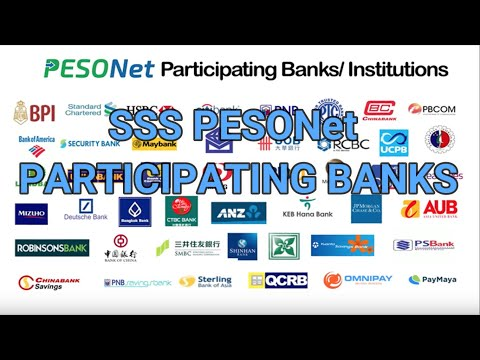 List of SSS PESONet Participating Banks(best bank to use for the disbursement of SSS benefits&loans)