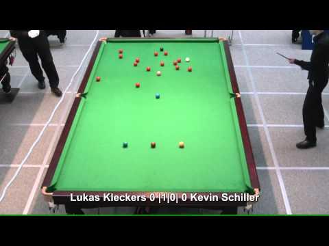 Lukas  Kleckers - Kevin Schiller von der DJM 2011/12 U16 Snooker