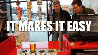 Five Guys Restaurant Bottoms Up Testimonial - It Makes it Easy to Sell Beers
