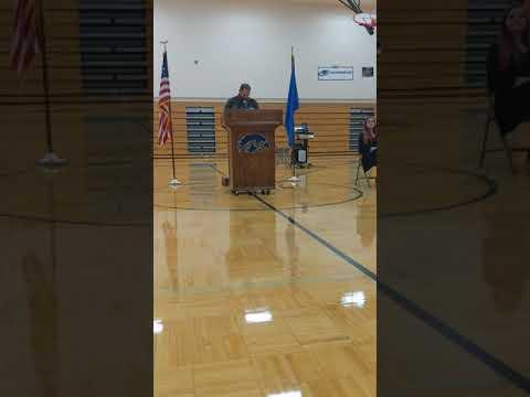 Veterans Day Speech at Silver Stage High School. 2019