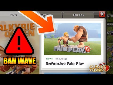 WARNING: BAN WAVE INCOMING | Clash Of Clans | + Max Heroes!
