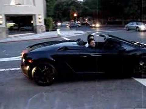 Awesome Black Lamborghini Gallardo Spyder
