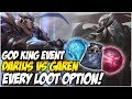 GOD KING EVENT! EVERY LOOT OPTION OPENED! | League of Legends