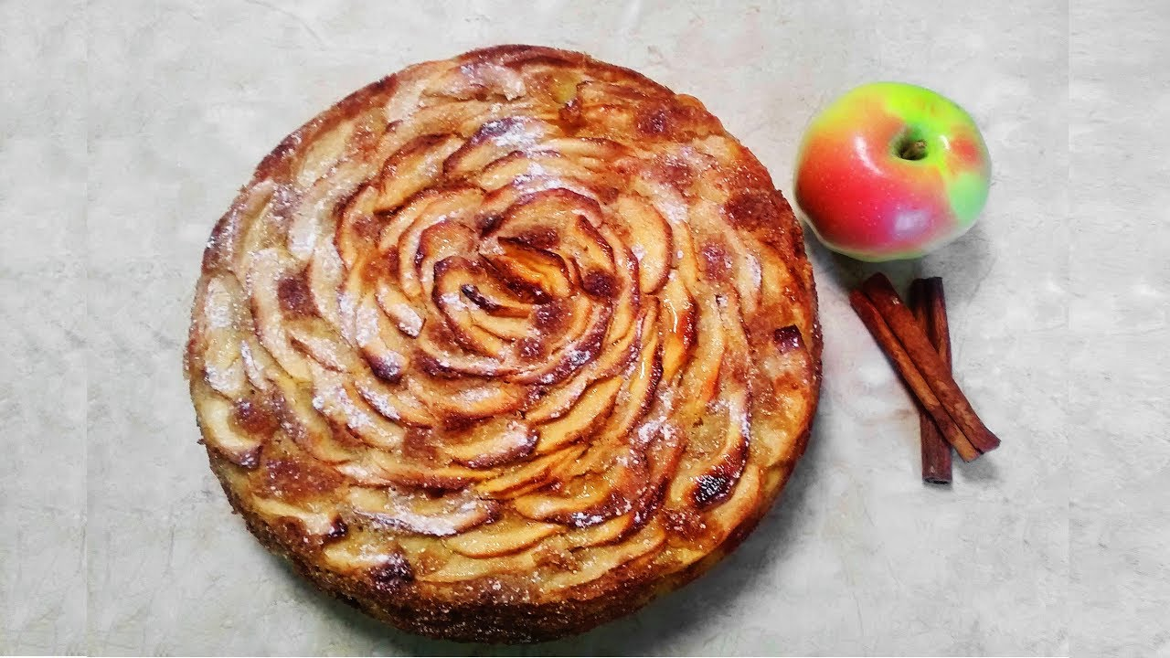 яблочный пирог простой рецепт в духовке без миксера