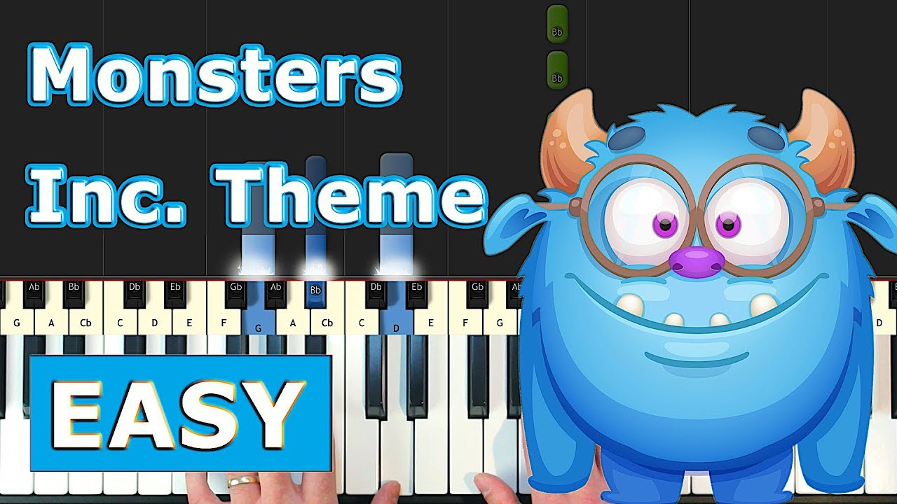 Monsters Inc Theme Piano Tutorial Easy Youtube