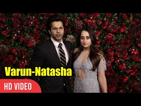 Varun Dhawan Ki Dulhania at Deepika-Ranveer Wedding Reception Party | Varun Dhawan, Natasha Dalal