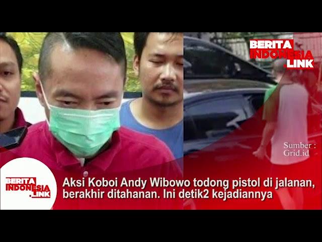 Aksi koboi Andy Wibowo todong pistol dijalanan, berakhir ditahanan. Ini detik2 kejadiannya.
