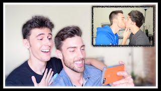 REACTING TO OUR FIRST KISS