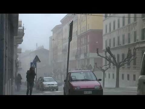 Trieste neve, ghiaccio e forte bora, marzo 2010