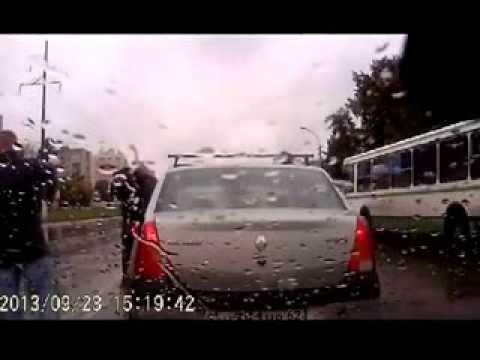 Конфликт на дороге. УДАР-М2 в действии!