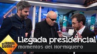 Así ha sido la llegada presidencial de Ernesto Sevilla - El Hormiguero 3.0