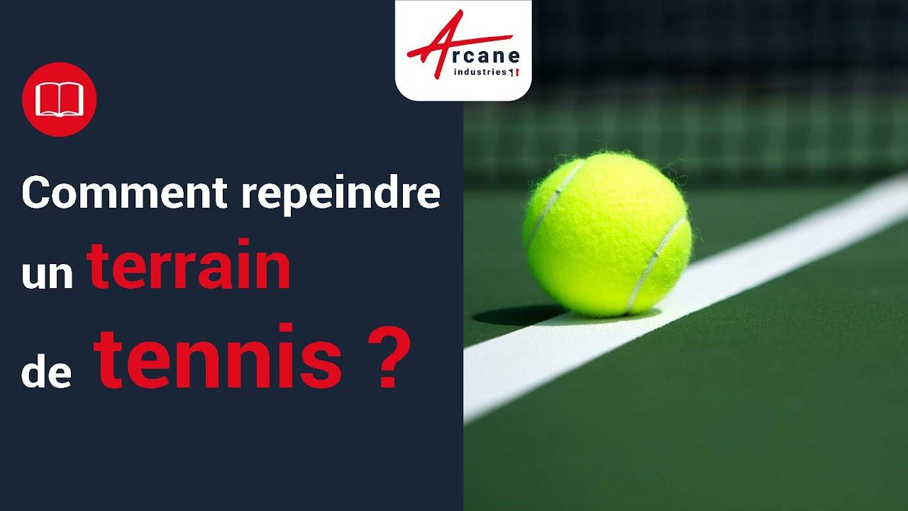 Peinture pour court de tennis Anti drapant Rnovation parking salle de sport  YouTube