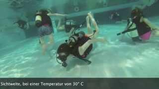 Tauchkurs Schwimmbad Aqua Mundo Center Parcs Bispinger Heide