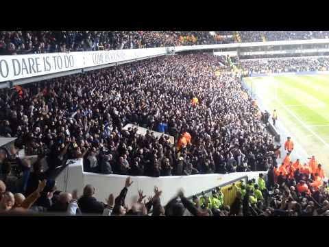 Tottenham Fans Celebrating Against Arsenal 2-1 03/03/13