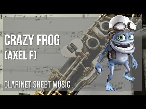 EASY Clarinet Sheet Music: How to play Crazy Frog (Axel F) by Harold Faltermeyer