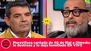 Maravillosa cantada de 40 de Rial a Olmedo; lo destroza y lo deja humillado EN VIVO