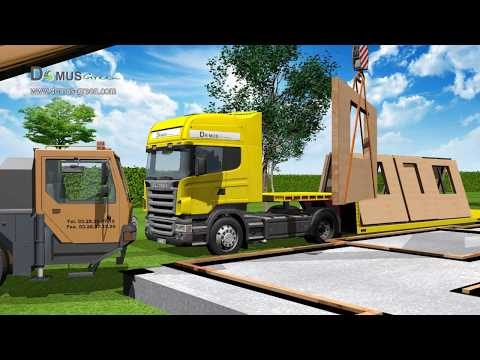 3D video animation/ prefabricated house