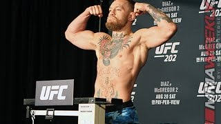 Conor McGregor vs. Nate Diaz Official EARLY UFC 202 Weigh-in (SPOILERS)