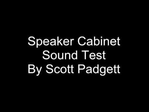 product design sound test speaker cabinet, by Scott Padgett