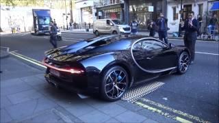 Black Bugatti Chiron driving on the road in London!