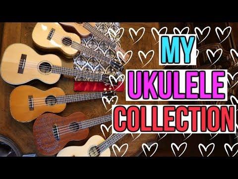 My ukulele collection! MEET MY CHILDREN