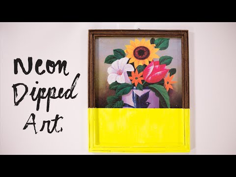 DIY Neon Dipped Art   Home Decor & Interior Design