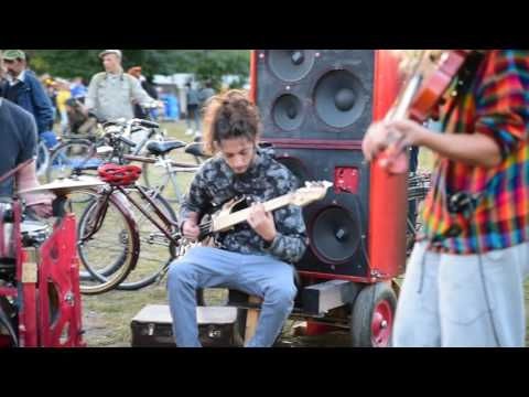 Cool performance of street musicians in Berlin, Germany