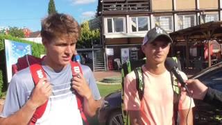 Filip Duda a Ondřej Krstev po prohře v semifinále čtyřhry na turnaji Futures v Pardubicích