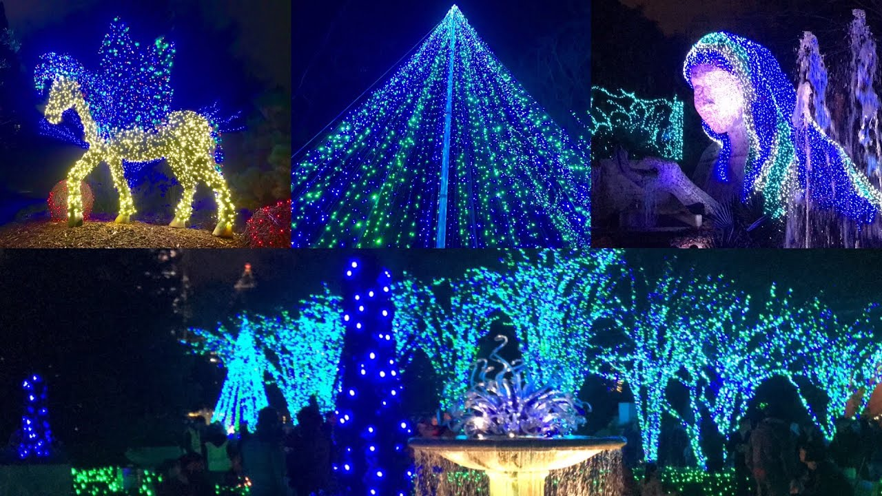 Atlanta Botanical Garden Holiday Lights 2018 Pt 1 Walkthrough Youtube