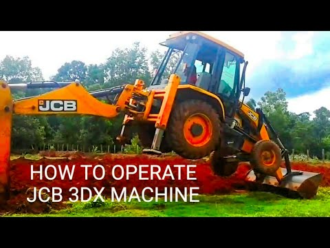 VIDEO ON HOW TO OPERATE JCB 3DX EXCAVATOR LOADER MACHINE.